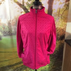 NWT Lands' End Red Fleece Jacket Size M 10-12