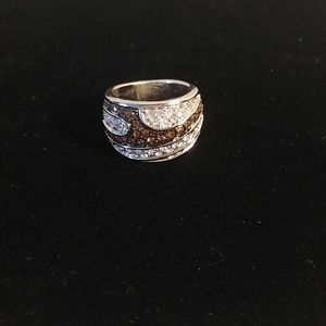 Jewelry - Size 8.5 ring brown and silver