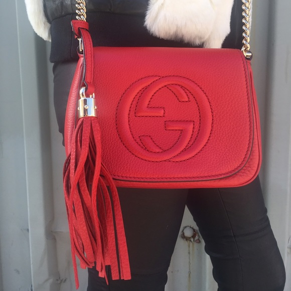 5c0c9ebfeab389 Gucci Bags | Red Soho Disco Crossbody Bag | Poshmark
