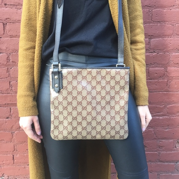 aa4586981403 Gucci Bags | Monogrammed Coated Canvas Messenger | Poshmark