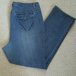 St. John's Bay Denim - St. John's Bay (Plus) Straight Leg Blue Jeans