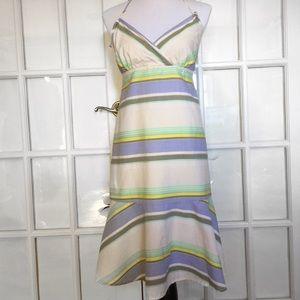 Old Navy Stripe Halter Dress