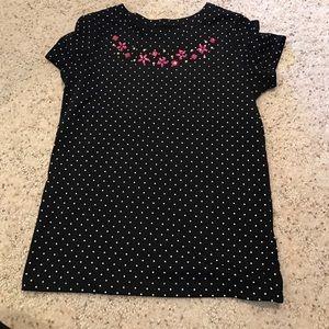 Other - polka dot jeweled shirt