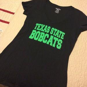 Tops - Texas State Bobcats V-Neck Tee