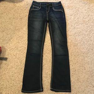 Other - girls dark wash stretchy jeans