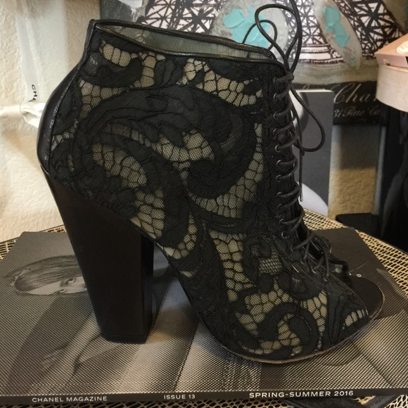 8738ae24d8 Givenchy Shoes - 💯Auth GIVENCHY Lace Peep Toe Booties Boots Shoes
