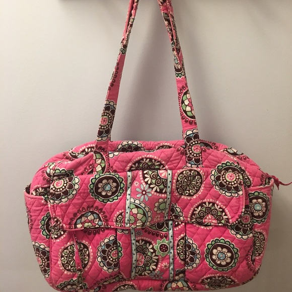 Vera Bradley Diaper Bag With Changing Table Cover