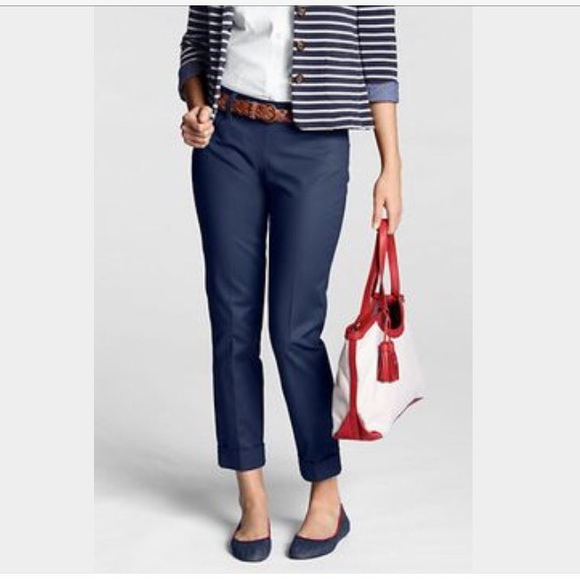 49% off Lands' End Pants - Lands' End Navy Blue Capris from ...