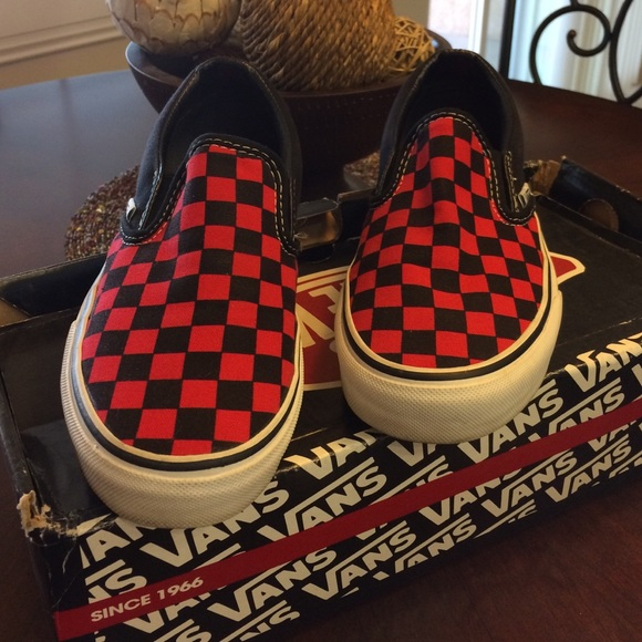 30 off vans shoes vans red and black checkered from