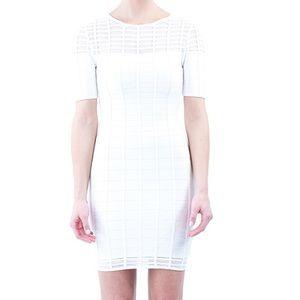 Herve Leger inspired white bandage dress, size m
