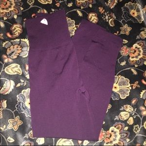 Plum fleece lined leggings