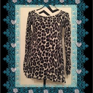 DKNY Jeans Animal Printed Irregular Top