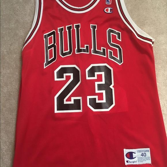 detailed look 02ff2 8cee0 Authentic Michael Jordan Bulls Jersey