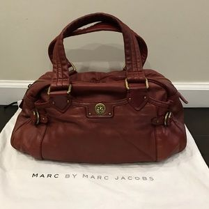 Marc by Marc Jacobs Red Leather Satchel bag
