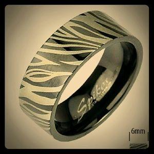 ZEBRA PRINT BAND RING