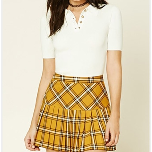 45b57a07e Forever 21 Skirts | Tartan Plaid Pleated Mini Skirt | Poshmark