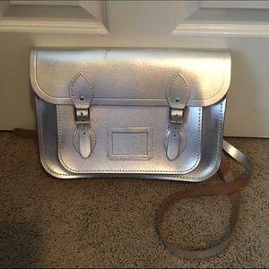 "Cambridge Satchel Handbags - Cambridge Satchel Co Metallic Silver 13"" Satchel"