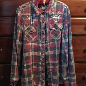 Sinful Tops - Sinful brand flannel shirt