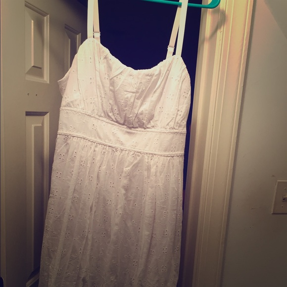 Plus size white eyelet dress NWT