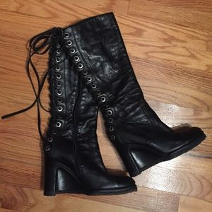 Apepazza Shoes - Stunningly sexy black leather boots by Apepazza !!