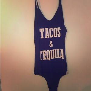 Tacos & tequila body suit.