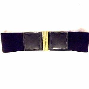 BCBG Accessories - BCBG Black & Gold Belt