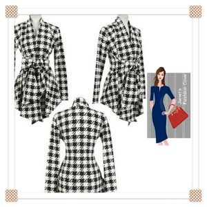 Sweaters - NEW ARRIVAL-> Soft Houndstooth Pattern Cardigan