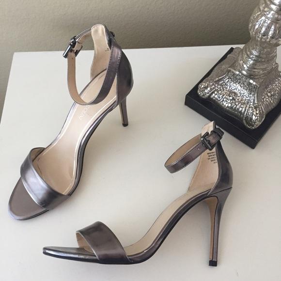 Enzo Angiolini Shoes - Enzo Angiolini Manna gunmetal minimalist sandals 16f943603