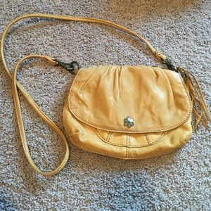 Lucky Brand Yellow Leather Crossbody