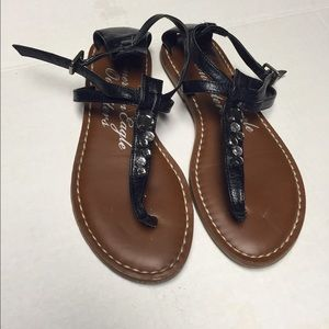 American Eagle Outfitters Shoes - American Eagle Outfitters Black Sandals