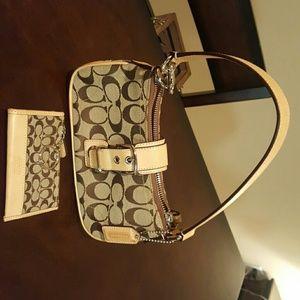 Coach bag and coin purse