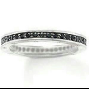 Jewelry - 🆕 925 silver micro pave full eternity band !