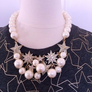T&J Designs Jewelry - 👄PRICE FIRM👄 Pave & Faux Pearl Star Necklace