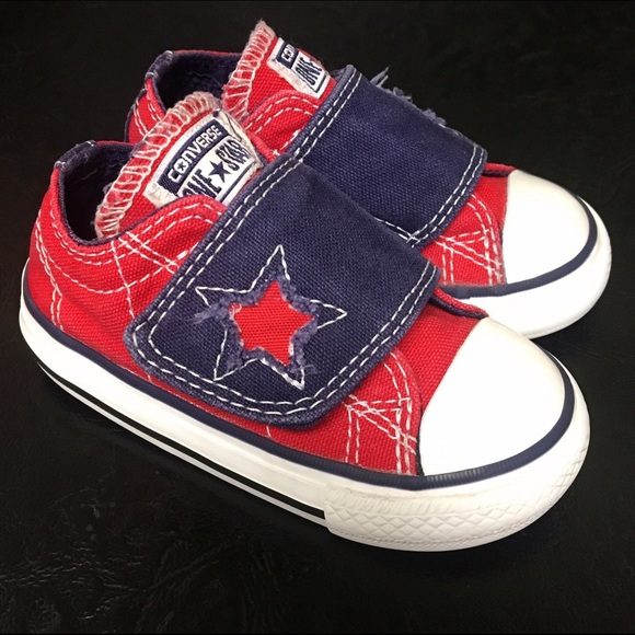 6e8b731b884 Converse Other - Baby Size 5 One Star Velcro Strap Converse