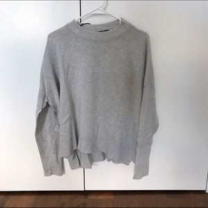 Sweaters - Comfortable Casual Fit Grey Sweater