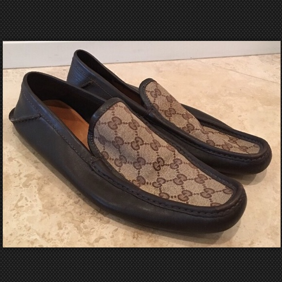 3a8c7f9fdc39 GUCCI Other - GUCCI Signature GG Canvas Leather Loafers Men 11M