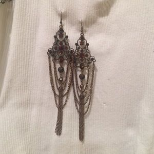 Jewelry - Rhinestone Bronze Earrings