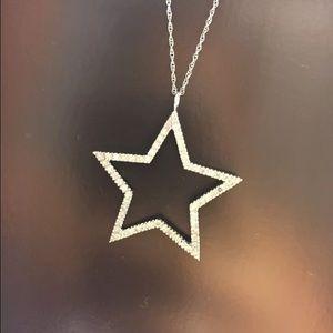 Jewelry - 10k White Gold Diamond Star