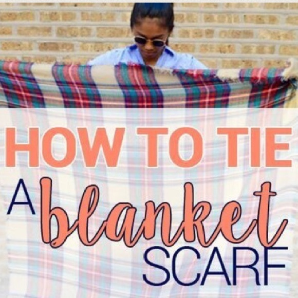 💄How To Tie A Blanket Scarf💄