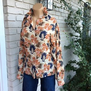 Anne Klein Tops - Vintage floral semi sheer button up