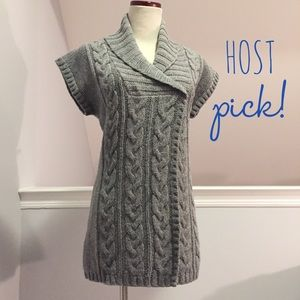 Esprit Sweaters - Esprit Cable Knit Sweater Vest in Gray