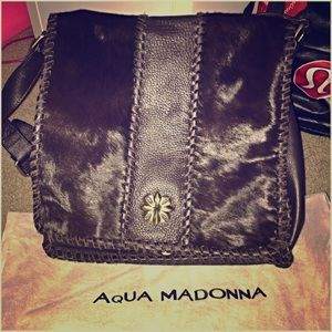 Aqua Madonna Handbags - Aqua Madonna pony hair & leather  crossbody bag