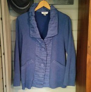 Flair Jackets & Blazers - Very soft, stretchy periwinkle blazer