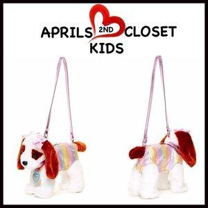 Boutique Other - PUPPY PURSE Plush Sequin Mini Bag