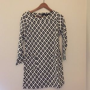 Black and white tunic/dress