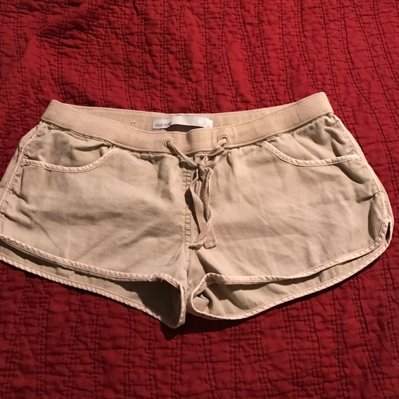 47% off Old Navy Pants - Old Navy low rise khaki shorts from ...