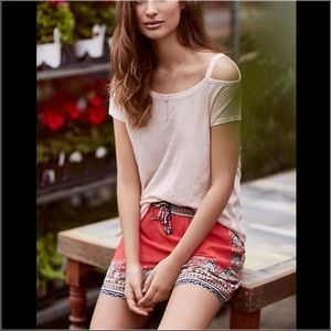 Anthropologie Open Shoulder Tee