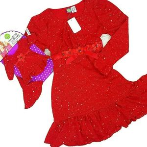 Dollie & Me Other - 🚨30%/2🎉New 12 Plus DOLLIE ME Match Red Dress 18""