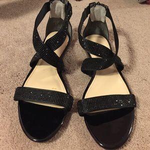 Enzo Angiolini black sparkle sandals. Sz 6.5M