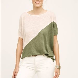 Anthropologie Colorblock Tee